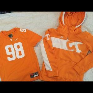 University of Tennessee hoodie  SZ 7 adidas Nike